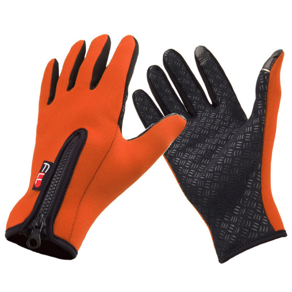 Good deal Snowboard Skiing Riding Cycling Bike Sports Gloves Outdoor Windproof Winter Thermal Warm Touch Screen Silicone Palm