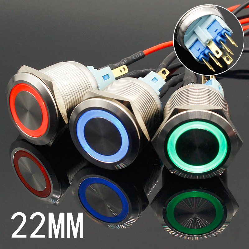 Top The world's Cheapest Products ♛ 22mm led button in Car Home