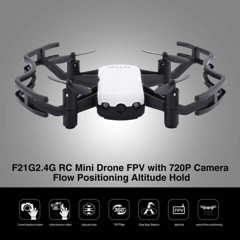 Drone Met 720 P Hd Wifi Fpv Camera Rc Mini Quadcopter Flow Positionering Gebaar Hoogte Houden Headless Modus Helicopter