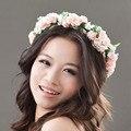 Flower Headband Women For Wedding Floral Headband Hairband Wedding Party Prom Festival Decor Princess Floral Wreath Headpiece