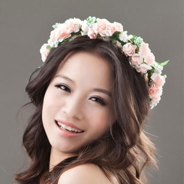 Flower Headband Women For Wedding Floral Hairband Party Prom Festival Decor Princess Wreath