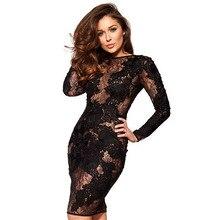 Sexy Dress Hollow Black