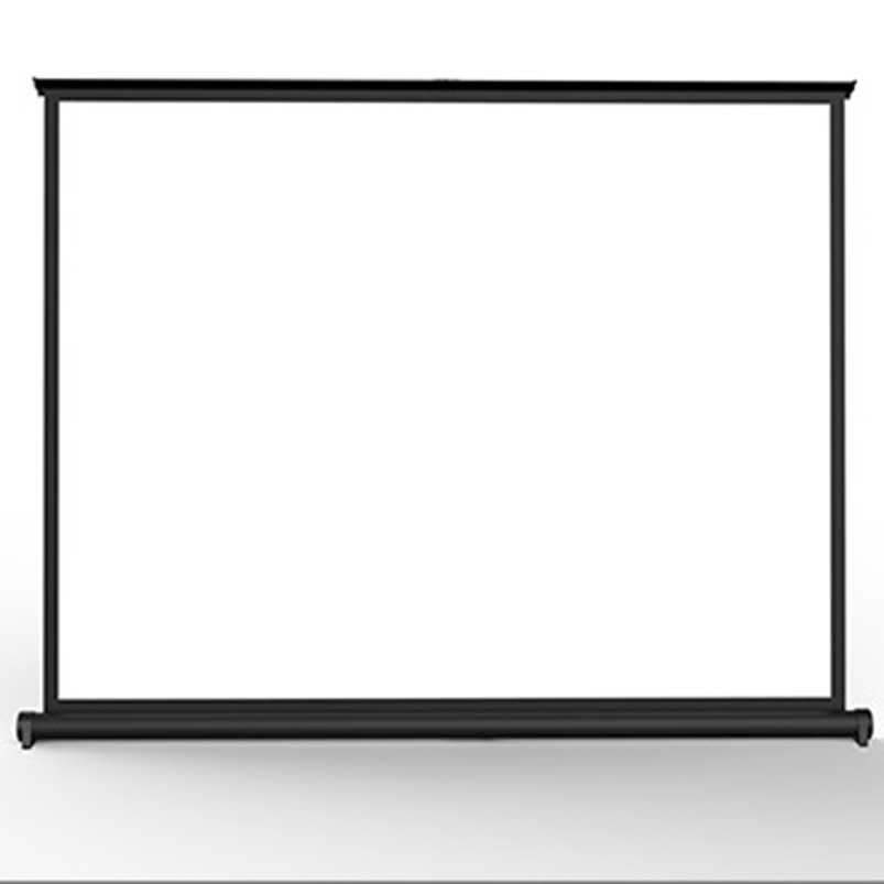 50'' diagonal 16:9 HDTV Format Portable table top screen in presentation projector screen with matte white for indoor projection hd projector projection screen 300inch 16 9 format outdoor fast folding frame screens for camping music party