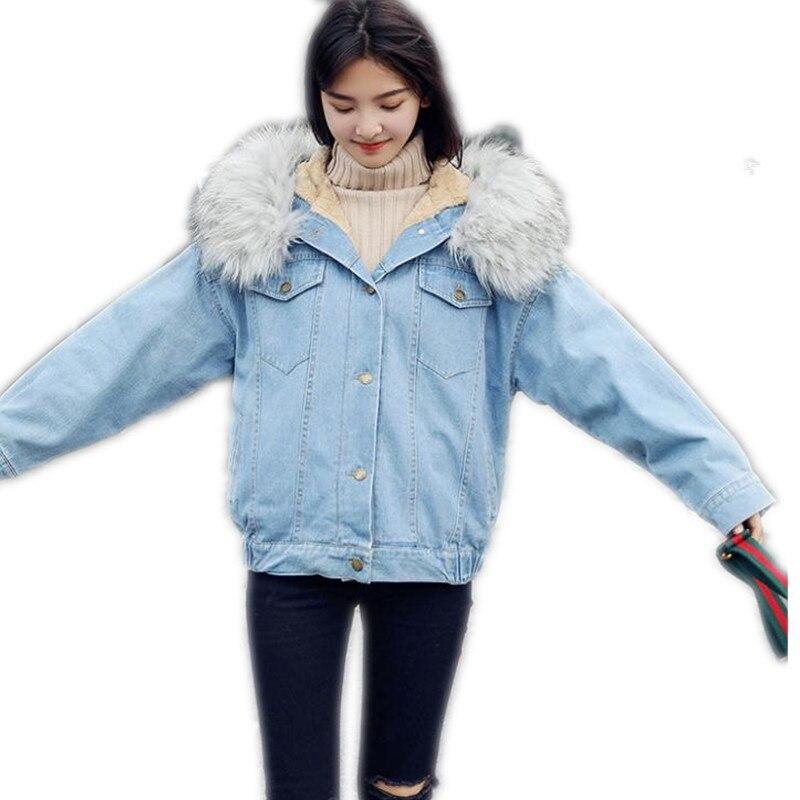 Streetwear Jeans Per L inverno Blue Cappuccio Delle Collare Con Pelliccia  Light Della Topcq2460 Parka 2019 Nuovo Del Inverno Di Manica Donne Lunga ... 210ffae0b457