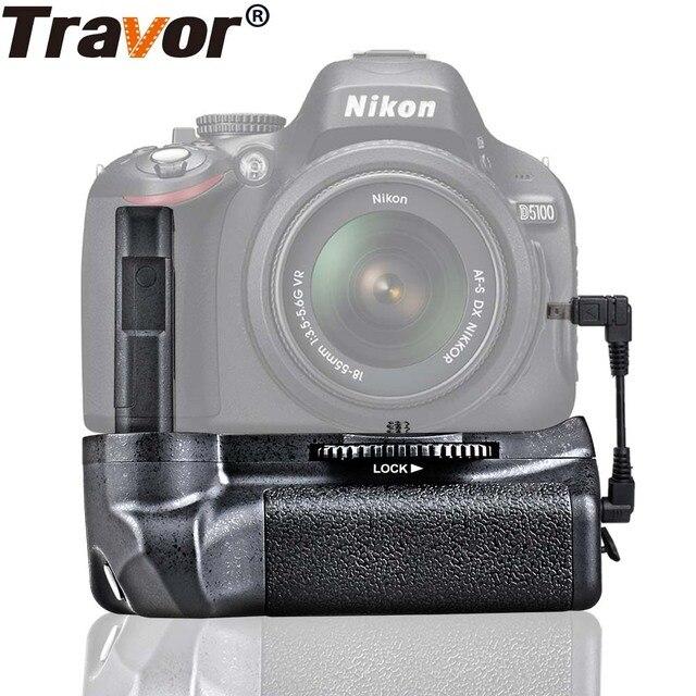 Travor סוללה מחזיק גריפ ניקון D5100 D5200 D5300 DSLR מצלמה עבודה עם EN EL14