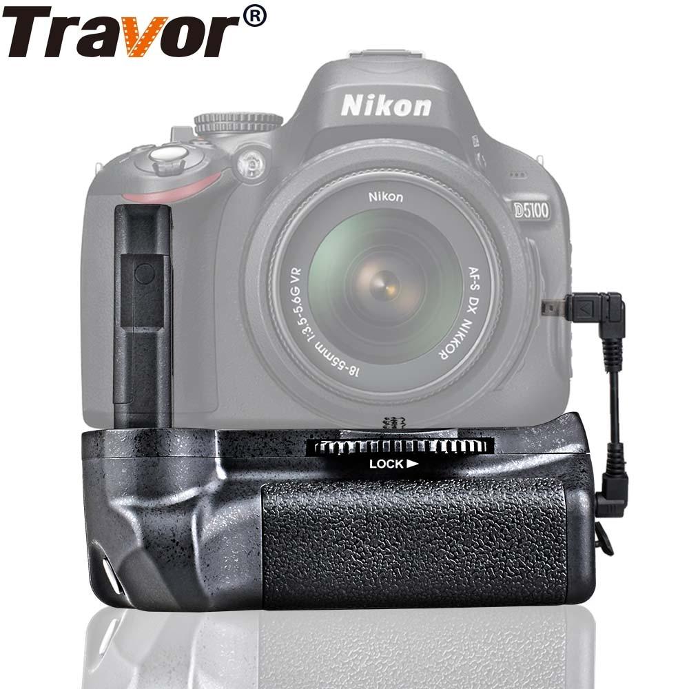 Travor bateria titular aperto para nikon d5100 d5200 d5300 dslr câmera trabalho com EN-EL14