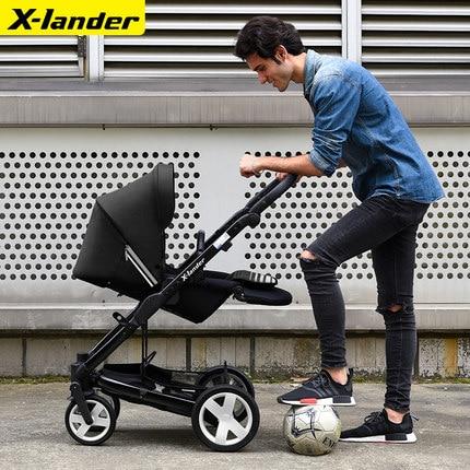 High quality--Luxury baby stroller, four wheel pram,shock absorbers ,foldable luxury baby stroller