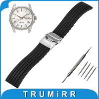 18mm 19mm 20mm 21mm 22mm Silicone Rubber Watch Band for Seiko Watchband Stainless Steel Buckle Strap Wrist Belt Bracelet