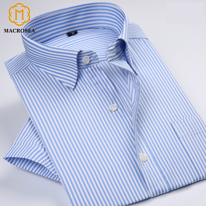 Classic Style Shirts Men Striped Dress Shirts
