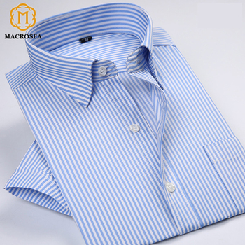 Classic Style Shirts Men Striped Dress Shirts
