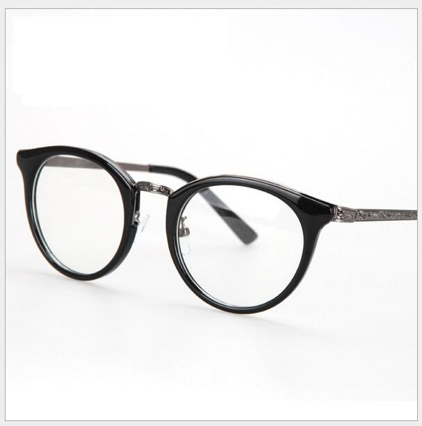 623d906673fb 2014 Latest Trendy Korean Fashion Women Men Eyeglasses Frame Brand Designer  Metal Temple Optical Frames Spectacles Oculos