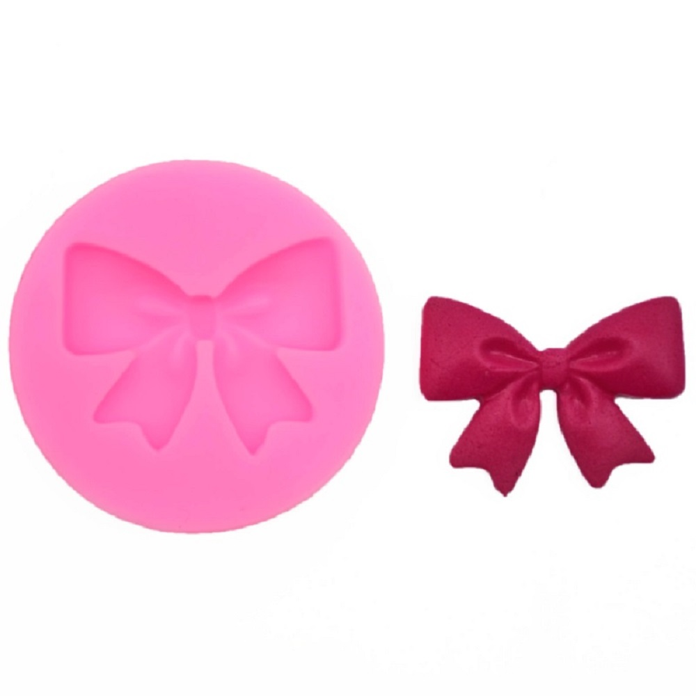 1PC Silicone Fondant Mold Bow/Butterfly silicone mold fondant mold cake decorating tools chocolate gumpaste mold