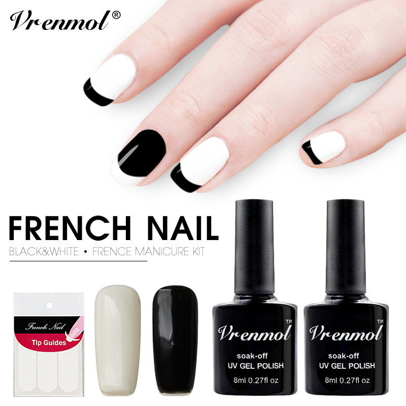 Nice French Nail Set Images - Nail Art Ideas - morihati.com