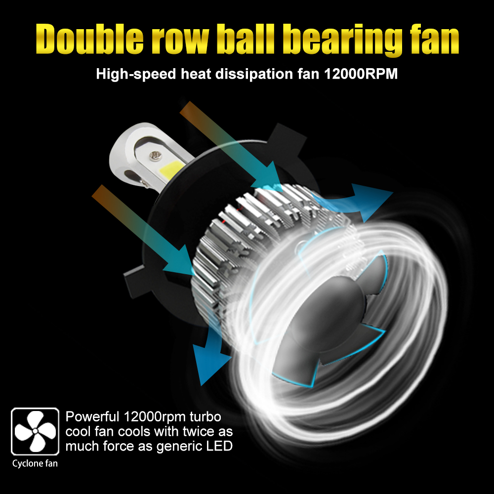 BraveWay H4 Led Light Headlight Lamps 6500K H7 H4 H1 H8 H11 H13 9005 9006 HB4 Car Light H7 Car Led Light Bulb H3 Fog Light in Car Headlight Bulbs LED from Automobiles Motorcycles