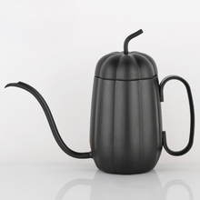 Stainless Steel Coffee Pot Gooseneck Drip Kettle Tea Creative Pumpkin Shape 450ml