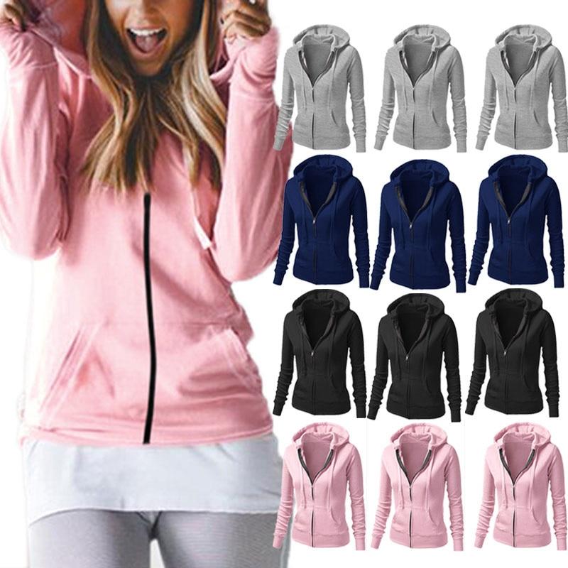 Fashion Women Winter Autumn Casual Hoodie Coat Hooded Pullover Sweatshirt Jumper Coats Jacket Tops FS99 ...