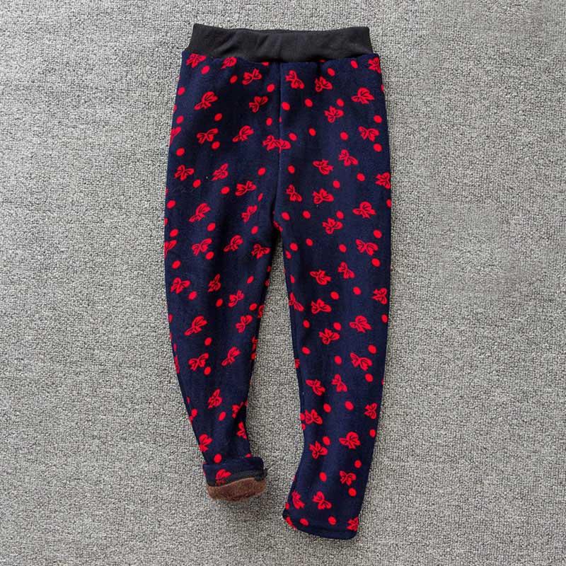 Детские штаны, осенне-зимние леггинсы для малышей, штаны для девочек с разноцветным принтом в виде цветов и бабочек - Цвет: 3