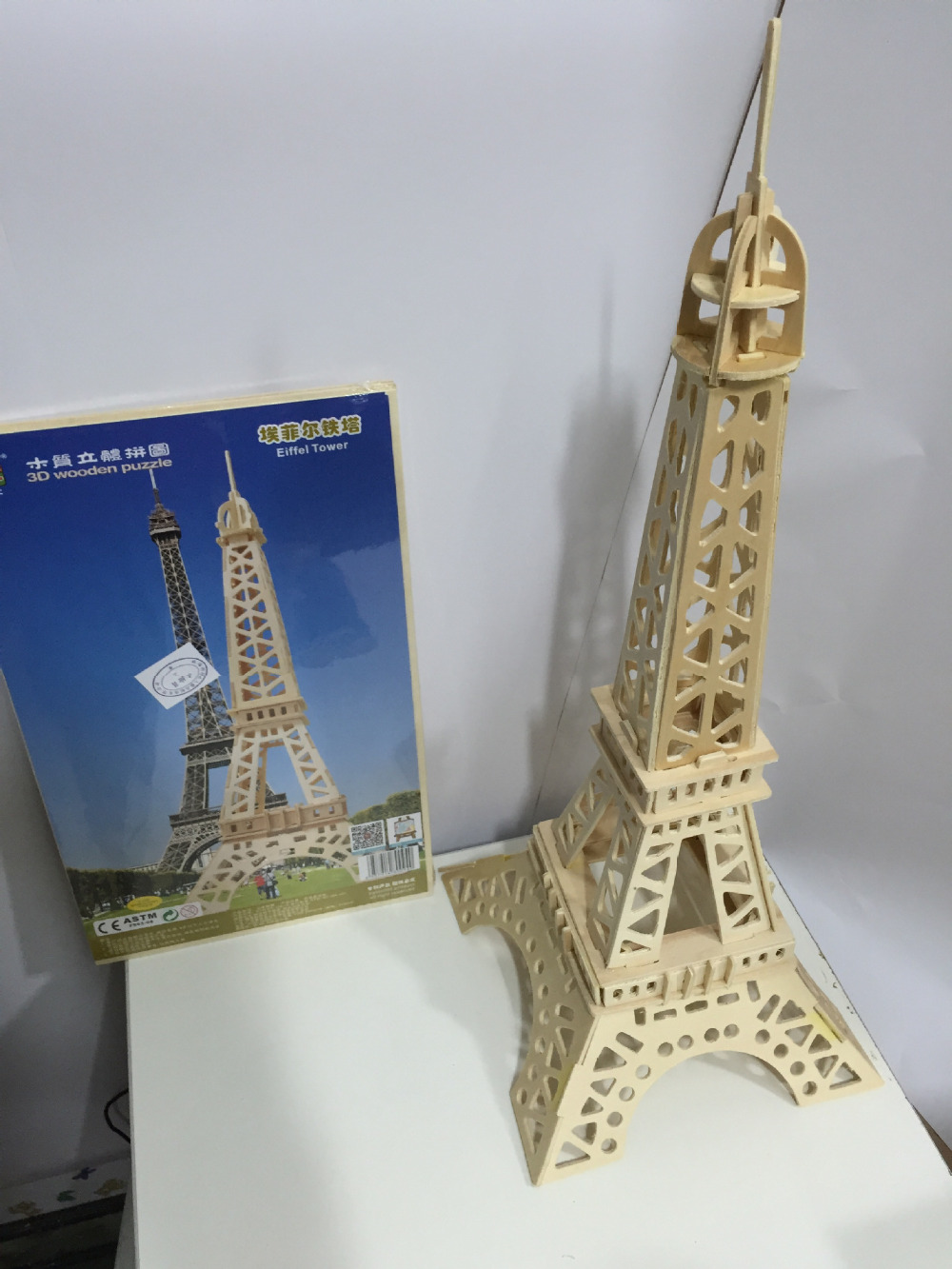 DIY Educational 3D Eiffel Tower Wood Building Puzzle for Kids Children and Adults