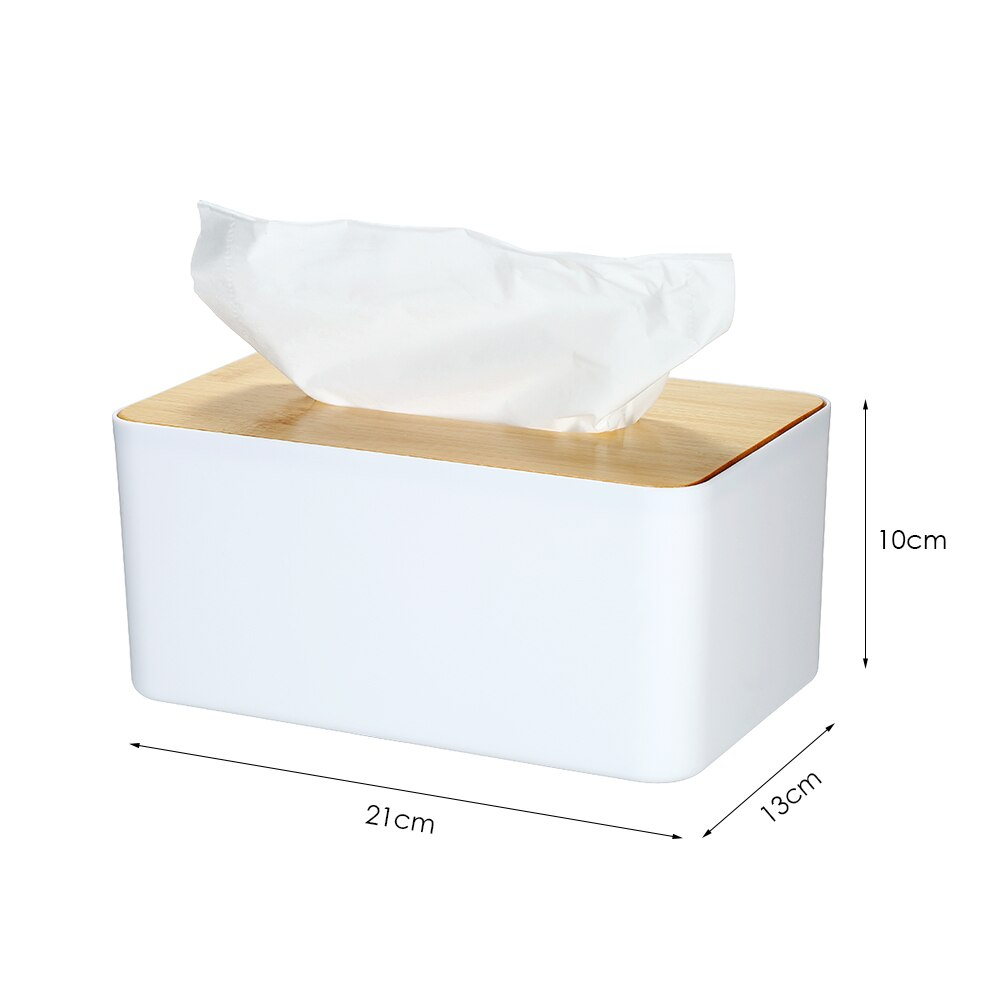 Round Roll Tissue Box Holder Cover Napkin Paper Box Case With Toothpick Box S