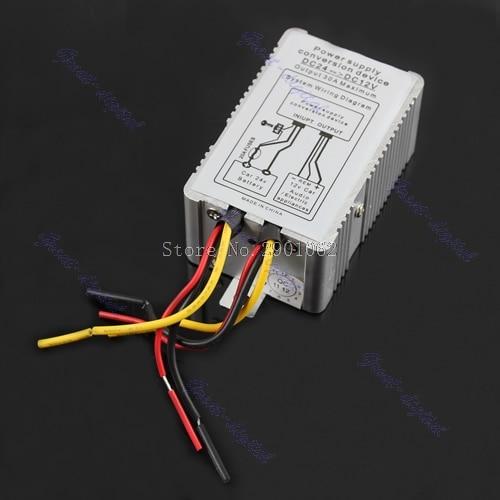 24V to 12V DC-DC Car Power Supply Inverter Converter Conversion Device 30A -B119 пуловер vmsally ls blouse dnm