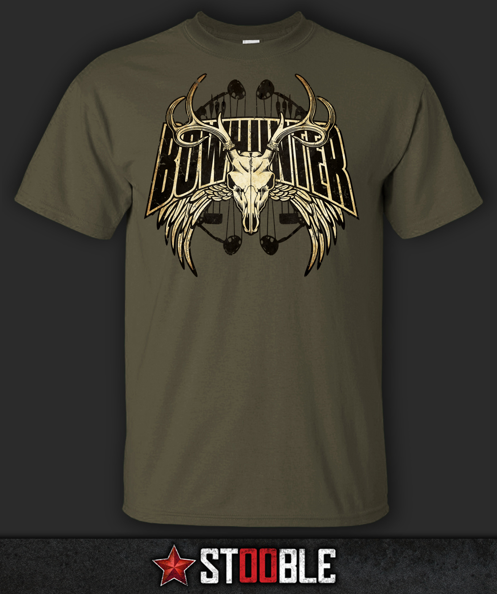 Bowhunter T-Shirt - NewT Shirts Funny Tops Tee New Unisex T Black Style