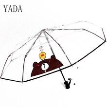 YADA PVC Transparent Cartoon Animals Umbrella Rain Women Environmental Protection For Windproof Umbrellas YS424