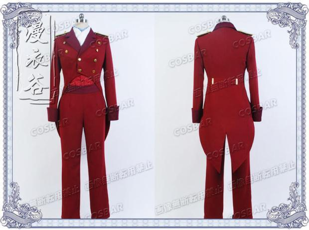 Anime Aldnoah Zero SLAINE TROYARD Cosplay Costume Red Outfit Suit Halloween Costumes Custom Made Any Size