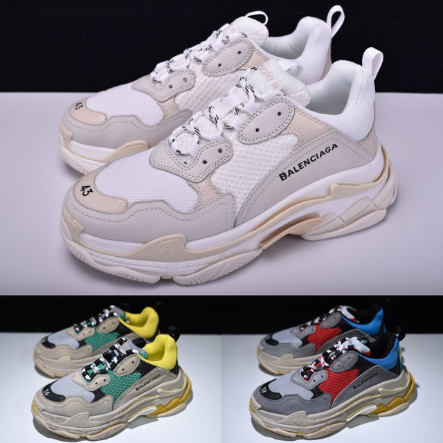 bef31c9a0 NEW BALENCIAGAS TRIPLE S TRAINERS RARE EDITION FOR MEN WOMEN DAD SHOES  SNEAKERS