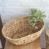 Wickerwork Storage Basket Rattan Basket Fruit Vegetable Draining Basket Woven Dirty Clothes Laundry Hamper Holder Toys