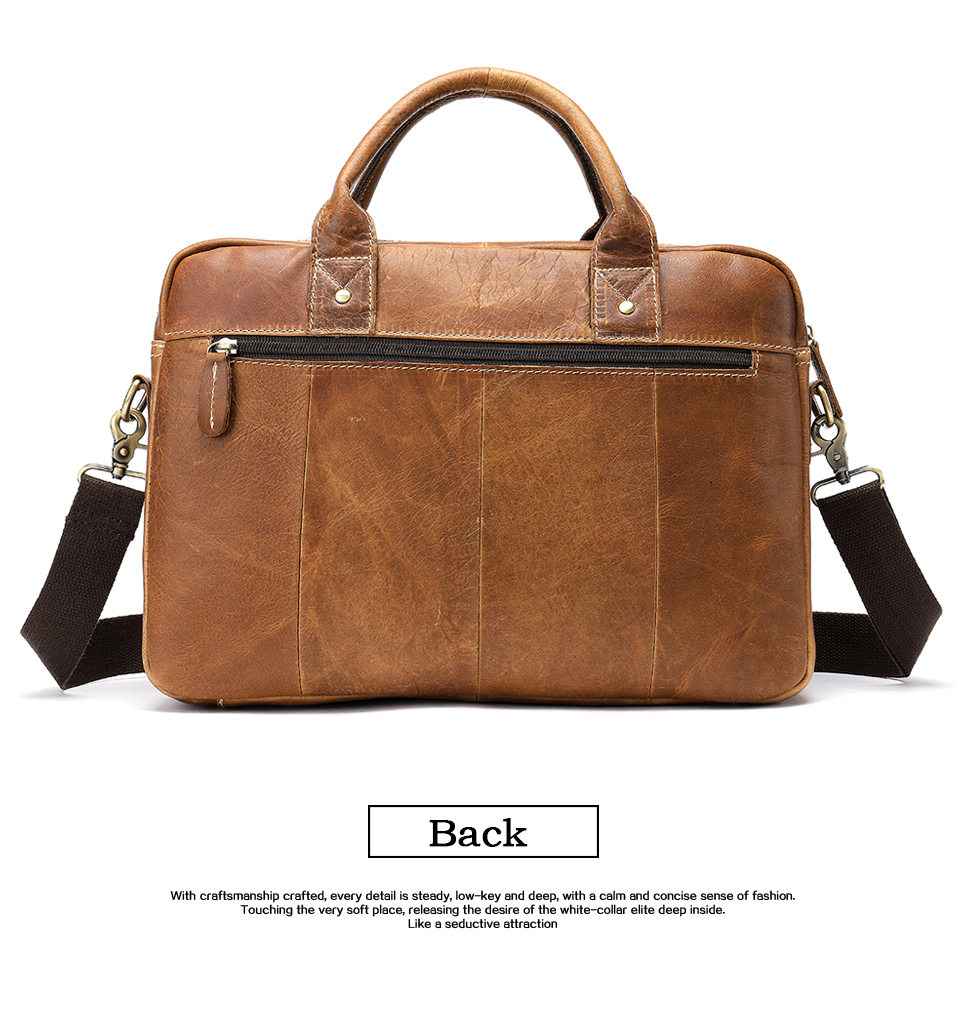 HTB1HMHtasrrK1RjSspaq6AREXXaQ WESTAL men's briefcase bag men's genuine Leather laptop bag office bags for men business porte document briefcase handbag 8503