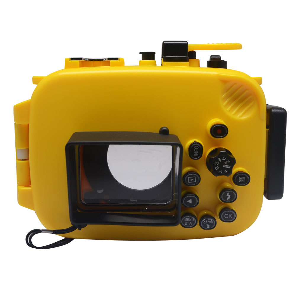 Mcoplus 40m/130ft Underwater Waterproof Case Diving Housing Camera Bag for Olympus TG-4