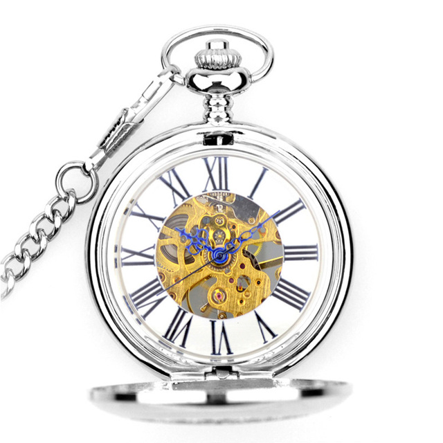 woonun new fashion analog men watch mechanical pocket watch with Yellow Kitty woonun new fashion analog men watch mechanical pocket watch with necklace chain ste unk hand wind pocket watch silver color