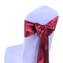 Hot Sale 25 Pcs/Set Blue Wedding Decoration Chair Satin Sashes Satin Chair Sashes Bow Tie for Hotel Marriage Banquet Chair Gift