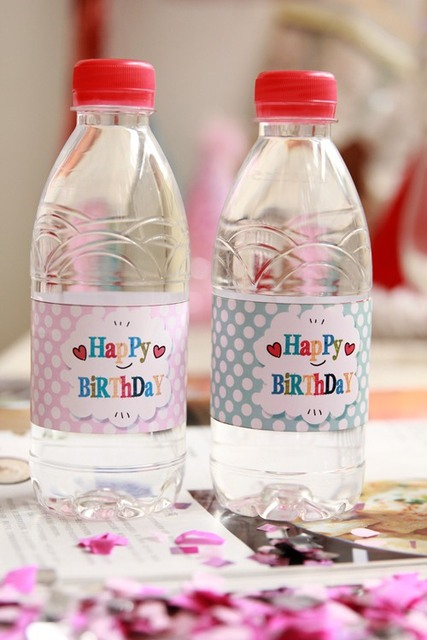 "Water Bottle Decoration Classy New Arrival 24Pcs""happy Birthday"" Water Bottle Label Candy Bar Inspiration"