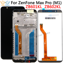 "Tela lcd 5.99 ""para asus zenfone max pro (m1) painel de toque lcd zb601kl zb602kl, montagem digitalizadora de tela de vidro"