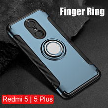 Finger Ring 360 Full Protect Case Xiaomi Redmi 5 Plus Armor Hybrid Cover Silicone Magnetic Car Holder