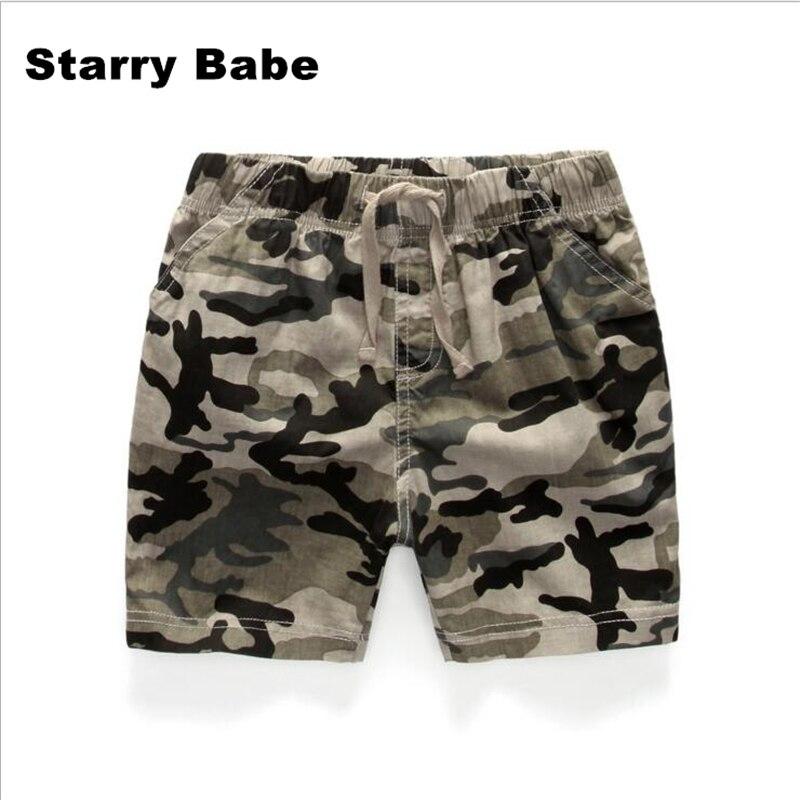 2-7 T Sommer Camouflage Farbe Kinder Dünne Strand Shorts Jungen Casual Hosen Baumwolle Kinder Kordelzug Shorts Sport Shorts Jungen Hose