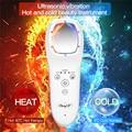 Горячий и холодный ультразвуковой массажер для лица  вибрация  светодиодная фотонная терапия  отбеливание  лифтинг  массаж для похудения  у...