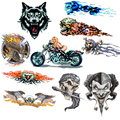 2 X Joke Wolf Eagle Monster Sticker For Motorcycle BIKE CAR UNIT SCOOTER DECALS Skateboard Graffiti Snowboard Bags STICKERS