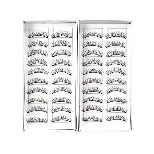 Best Sale 20 pairs false eyelash eyelashes end intersects black eye makeup natural eyelash 20 PAIRS