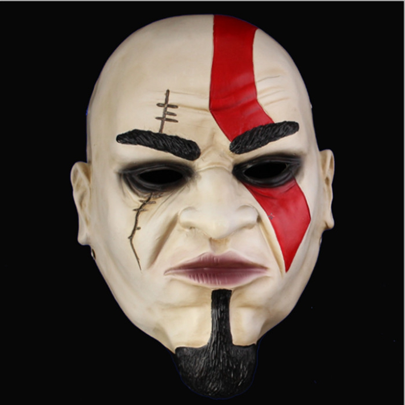 Movie Ares Returned Mask Game God of War 2 II Kratos Scary Masks for Halloween Props Party Cosplay Home Decor Free Shipping