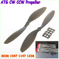 "2 x ATG 10x4.7"" 1047/12x38"" 1238 /8038 /1147 CW CCW APC Propeller for Multi-rotor Copter QuadCopter Grey Color (1 pair )"