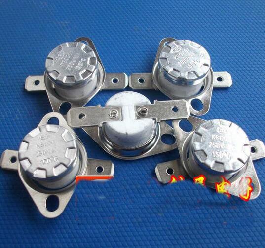 5Pcs NC Ceramic Temperature Switch Thermostat 160C-350C 165/170/175/190/220/230/250/280/300C KSD301 10A 250VAC High Temperature 10pcs ksd301 92 celsius temperature switch bimetal disc thermostat nc