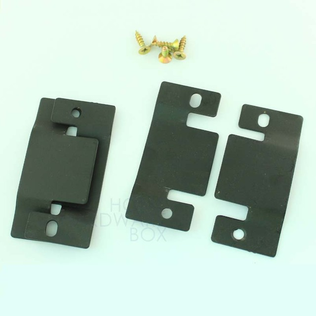 sectional sofa connector bracket interlock joint black metal two pairs : sectional sofa connectors - Sectionals, Sofas & Couches