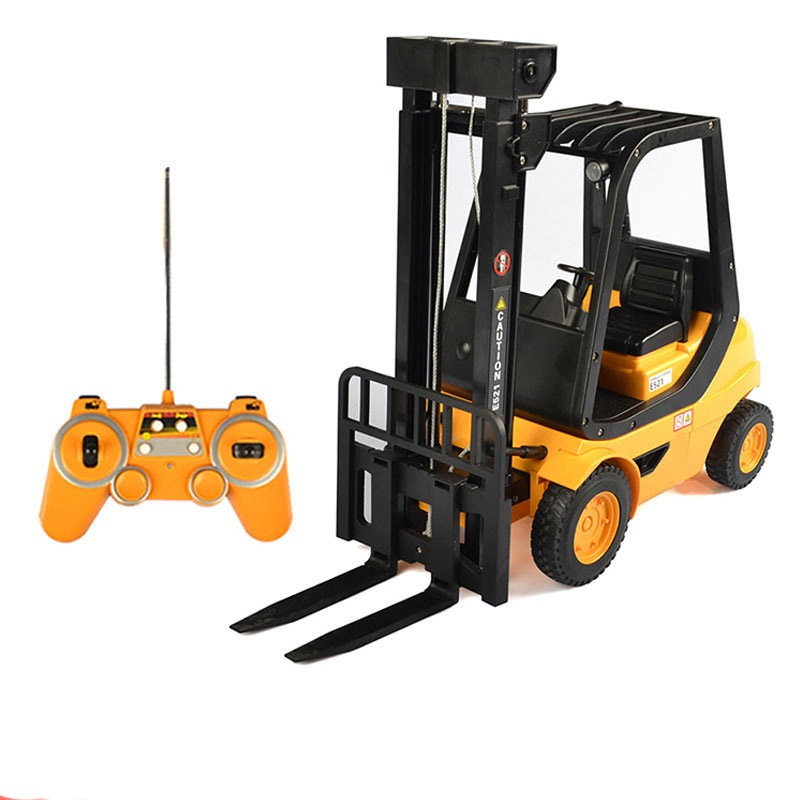 New Electric Remote Control Handling Engineering Equipment Truck 571 1:8 Large RC Forklift Truck Toy With Simulation Sound Light|RC Trucks|Toys & Hobbies - title=
