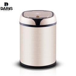SDARISB Induttivo Tipo Trash Can Smart Sensor Bagno di Casa Pattumiera Cestino di Stoccaggio di Barili Bidone della Spazzatura in Metallo In Acciaio Inox