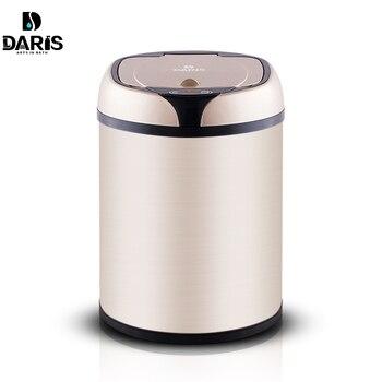 SDARISB typ indukcyjny kosz na śmieci inteligentny czujnik strona główna łazienka kosz na śmieci beczki do przechowywania kosz na śmieci kosz na śmieci ze stali nierdzewnej