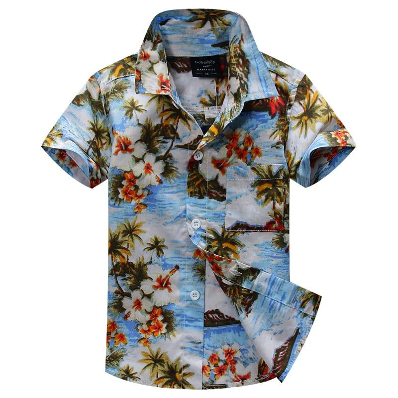 new arrival  cotton 100% floral shirt hawaiian shirt aloha shirt for boy T1518