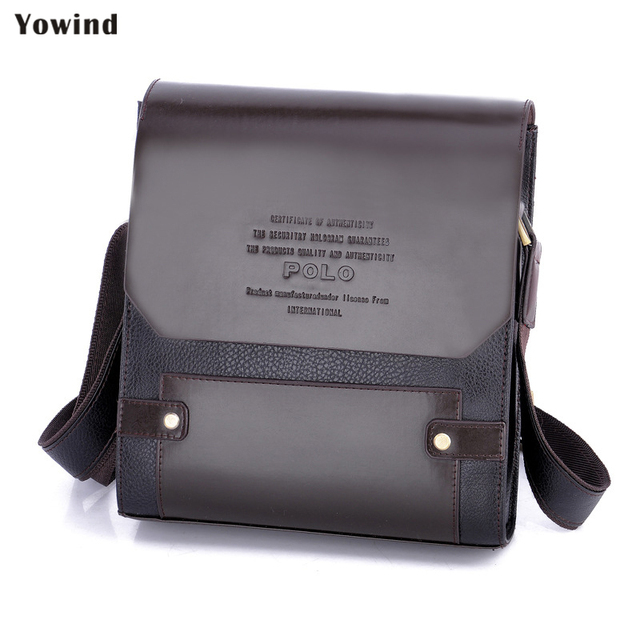 84fa14d3bbcf US $20.04 45% OFF|YOWIND New Arrival Fashion Business Leather Men Messenger  Bags Promotional Small Crossbody Shoulder Bag Casual Man Bag-in Briefcases  ...