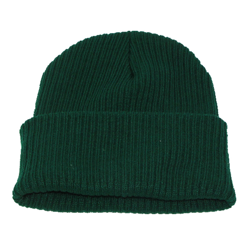 Basic style  warm skullies&beanies  solid winter knitted plain weave hat for unisex fashion casual street woman and man skullies